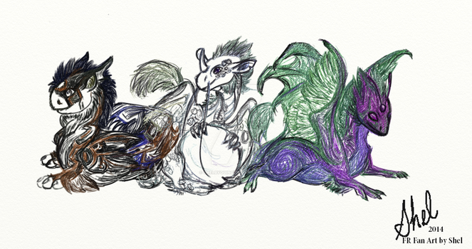 Sketch of FR Dragon Hatchlings by ShelbyQuino
