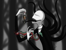 Slender and his prey by Goldy--Gry