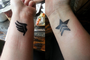 . Mass Effect Paragon and Renegade Tattoos . by squidcheese