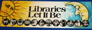 Libraries Let It Be ~ Zodiac bookmark by MystMoonstruck