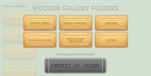 Wooden Gallery Folders by etcoman
