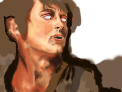 Frodo Photoshop Painting by trisquitman