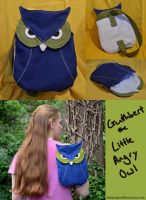 Guthbert the Little Angry Owl backpack by Animus-Panthera
