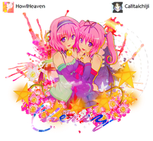 Collab - Deviluke Sisters by Calitaichiji