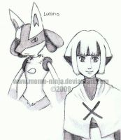 + Lucario and Gardenia + by Momo-Ninja