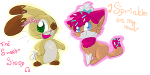 We are the pastry pets! by buttercreamsundaeplz