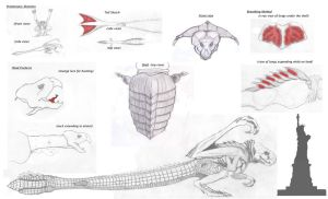 Cloverfield re-design sketches by BAC-of-all-trades