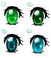 eye coloring styles by Ika-Hime