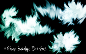 Gimp Smudge Brushes by PigMasterOra