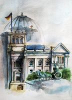 Berlin in watercolour by evie9207