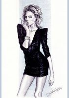 Fashion illustration-black dress by Tania-S
