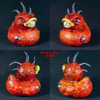 Demon Rubber duck Ooak by Undead-Art