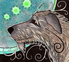 Irish Wolfhound as Totem by Ravenari