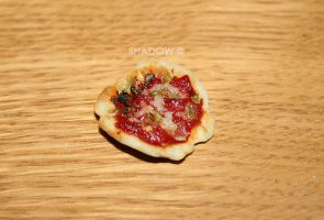 A miniature of a real pizza 02 by Daelyth