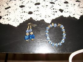 bracelet and earrings by sierrawheeler