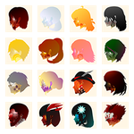 RWBY x UDD: Icons/Avatars by hjpenndragon
