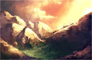 Mountain Speedpaint by Andantonius
