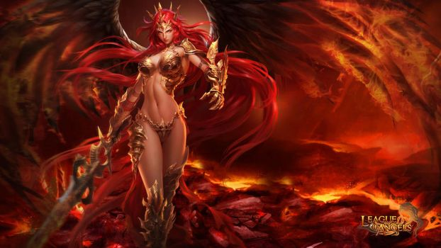 League of Angels - Mikaela 1366x768 by GTArcade
