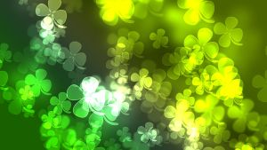 3 St. Patricks Day Shamrock Bokeh Wallpaper by saphira-wine