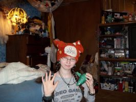 The Albel Kitty hat! ^(^~^)c by Ceraine