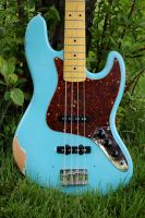 Daphne Blue Relic Jazz Bass by ibanezcollector