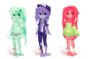 BubbleGum Zombies w/flavors Closed by PastelBits