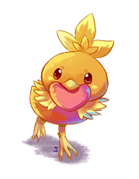 Torchic Heart by kcpasin