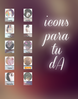 Icons Para DA. by LittlePrettyFlowers