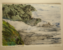 Chine-Colle` n Drypoint Sailing to Shore by Pamandy