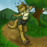 running in the park by trisk-7