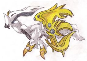 Arceus: Elysian Forme...colour by Polursine