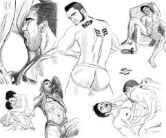 Sexy Men (Sketches) by XaryenMaelstrom