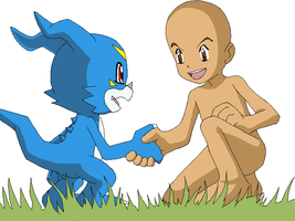 Hello_Veemon_Base_By_Pixellune by Pixellune