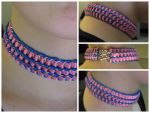 Cotton candy ribbon maille choker. by BorealisMetalWorks