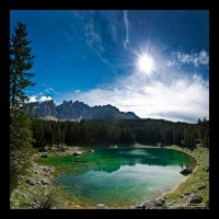 Lago di Carezza I by Emilio-Casini