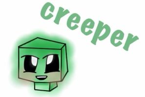 Happy creeper by Cute-idiot-cake
