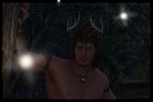 Horned God by SillvaFox