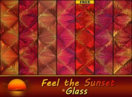 Feel the Sunset - Glass by allison731