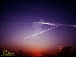Airlines with sunset by tt2008