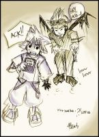 KH: SORA+DEATH NOTE wtf XD by kelvarin
