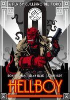 Art Deco Hellboy by RAAKILE