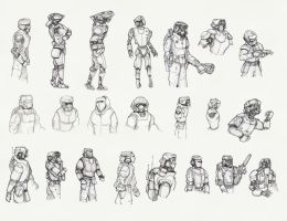 robot-suit character study by revmachine