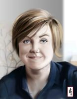 Portrait of Hannah Hart from My drunk kitchen by PassMeTheBamboo