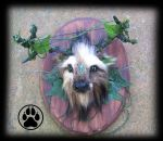 SOLD Forest spirit stag wallart ooak. by CreaturesofNat