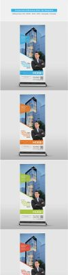 Corporate / Business Roll-Up Template by shapshapy