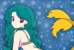 Mermaid Lineart Colored by Almost---There