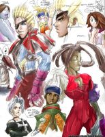 Final Fantasy X2 Doodles by karniz