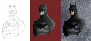 Batman Progress by Crown-Wolf