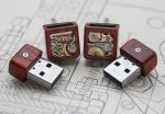 Mechanical Memory USB Cufflinks - 8GB, Paduak by back2root