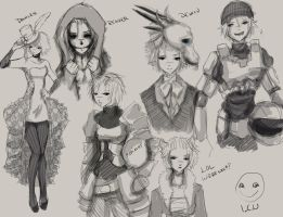 TW Halloween sketches by Magdorf
